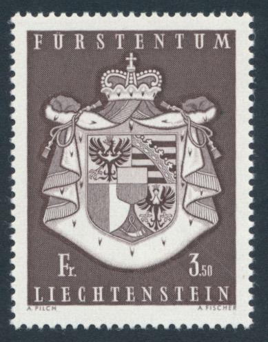 LIECHTENSTEIN  AFA 506. **. 1969. 3,50 fr  Statens Våpenskjo