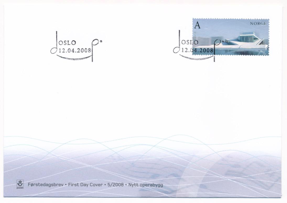 NK 1681. FDC. Postens Filatelitjeneste.  Nytt Operabygg i Os